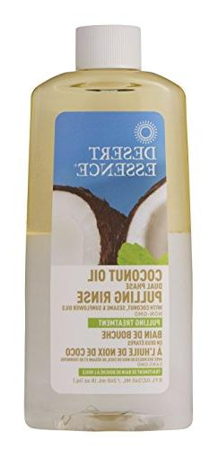 Desert Essence Mouth Rinse Dual Phase Pulling Coconut Oil, 8