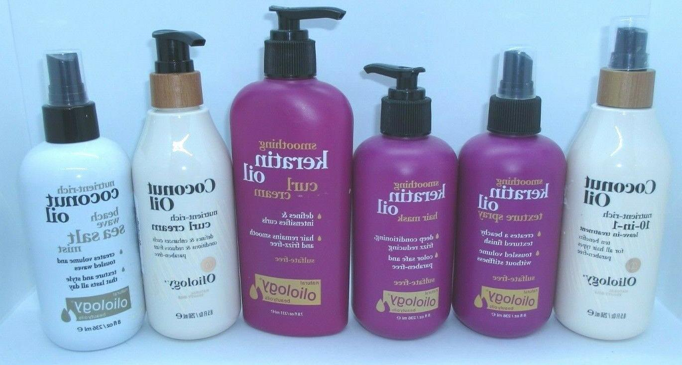 natural beauty oils coconut oil and keratin
