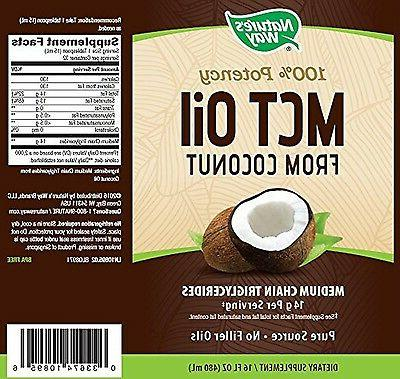 Nature's 100% MCT From 16 Fluid Ounces