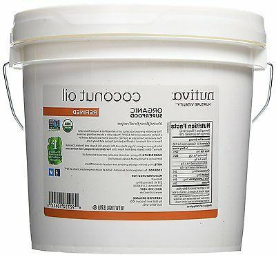 Nutiva Organic Coconut Oil Refined 1 Gallon