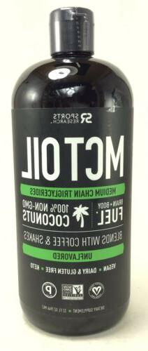 Premium MCT Oil derived only from Coconut Oil Dented Contain