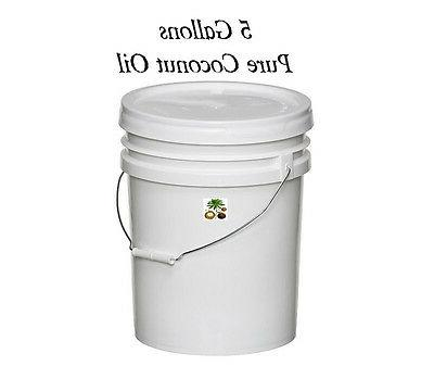 pure all natural coconut oil 5 gallon