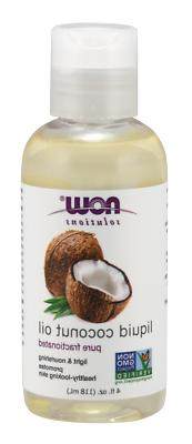 pure fractionated liquid coconut oil 4 oz