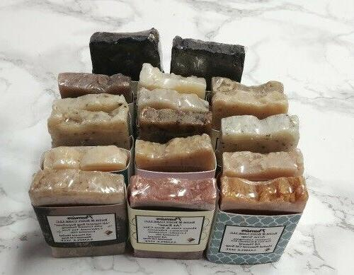 Handmade Soap Bars, Soap Samplers, Travel Size Soaps, 6-Pack