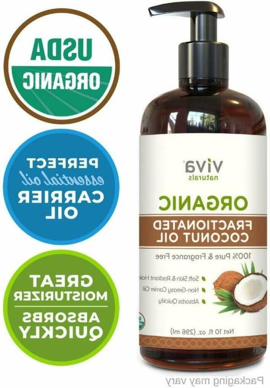 organic fractionated coconut oil 100 percent pure