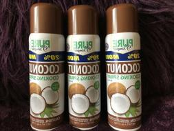 Lot Of 3 Coconut Oil Cooking Non Stick Spray Cholesterol Cal