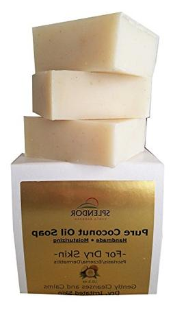 Moisturizing Pure Coconut Oil Soap for Dry, Irritated or Itc
