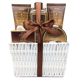 Spa Gift Basket and Bath Set with Refreshing Coconut Fragran