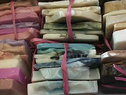 Natural Soap Bundle~5lbs Handmade Soap slivers Sample sizes~
