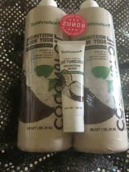 NatureWell Coconut Oil Body Wash  W/bonus Cream