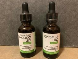 Pure Acres Farm ORGANIC Almond Oil AND Fractionated Coconut