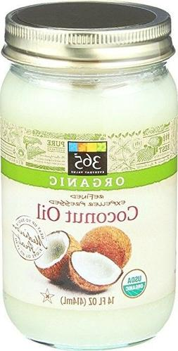 365 Everyday Value Organic Coconut Oil 14oz Cooking, Beauty,