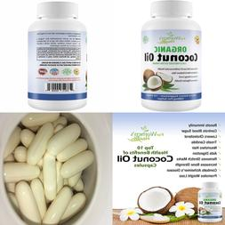 Organic Coconut Oil Capsules Extra Virgin Pills For Weight L