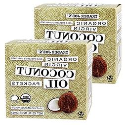 Trader Joe's Organic Coconut Oil Packets, 2-Pack  Virgin Coc