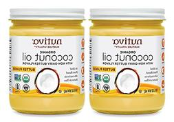Nutiva Organic Coconut Oil with Butter Flavor from non-GMO,