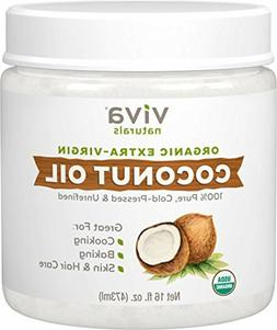Viva Naturals Organic Extra Virgin Coconut Oil 16 Ounce for
