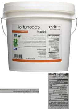 Nutiva Organic, Neutral Tasting, Steam Refined Coconut Oil F