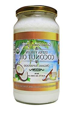 Organic Coconut Oil 33.81 Oz Extra Virgin Cold-Pressed for H