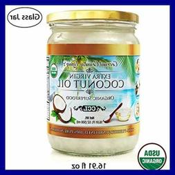 Organic Coconut Oil 16.91 oz Extra Virgin Unrefined Cold Pre