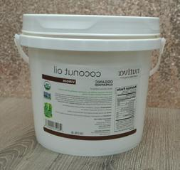 Nutiva Organic Virgin Coconut Oil 1-Gallon Tub EXP 04/20 ---