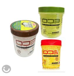 ECO PROFESSIONAL STYLING GEL OLIVE OIL OR ARGAN OIL OR COCON
