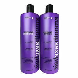 SexyHair Smoothing Anti Frizz Shampoo and Conditioner with C