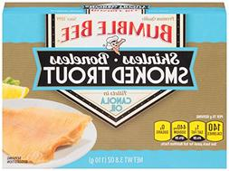 BUMBLE BEE Skinless and Boneless Smoked Trout Fillets in Can