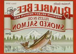 BUMBLE BEE Smoked Salmon Fillets In Oil, High Protein Food,