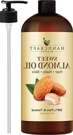 100% Pure Sweet Almond Oil – All Natural Premium Therapeut
