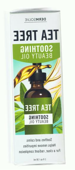 DERMSOLVE TEA TREE SOOTHING BEAUTY OIL WITH VITAMIN E COCONU