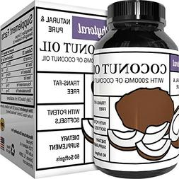 Phytoral Extra Virgin Coconut Oil 2000 mg Softgels for Skin