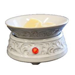 White Ceramic Electric Candle Tart Warmer Brand New